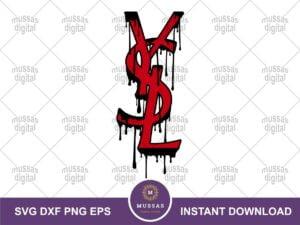 YSL Brand Logo Drip