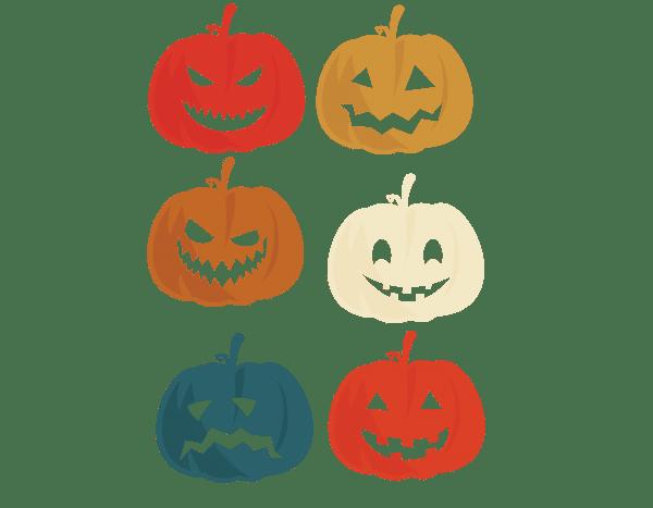 1 3 Vectorency Vintage Retro Pumpkin Halloween Jack O' Lantern Premium SVG, PNG, EPS, DXF, Digital Download File, Cut File