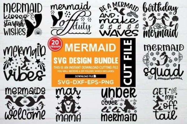 1200 800 1 Vectorency Mermaid SVG Bundle Vol 4