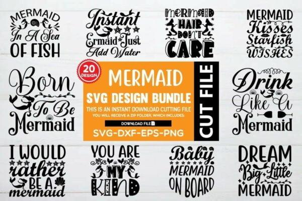 1200 800 2 Vectorency Mermaid SVG Bundle Vol 5