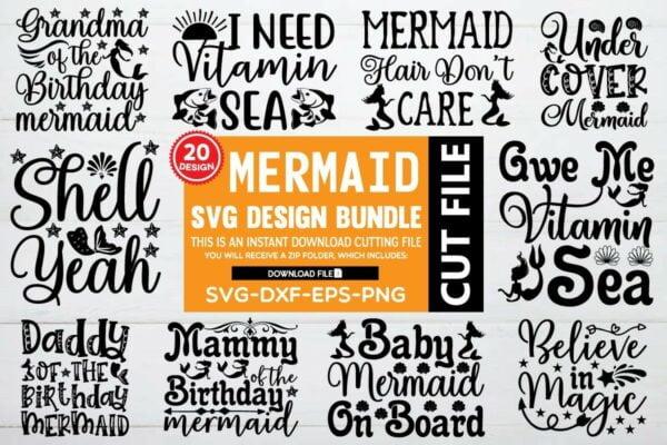 1200 800 3 Vectorency Mermaid SVG Bundle Vol 6