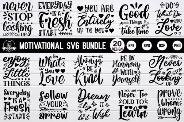1200 800 5 Vectorency Motivational SVG Bundle Vol 2