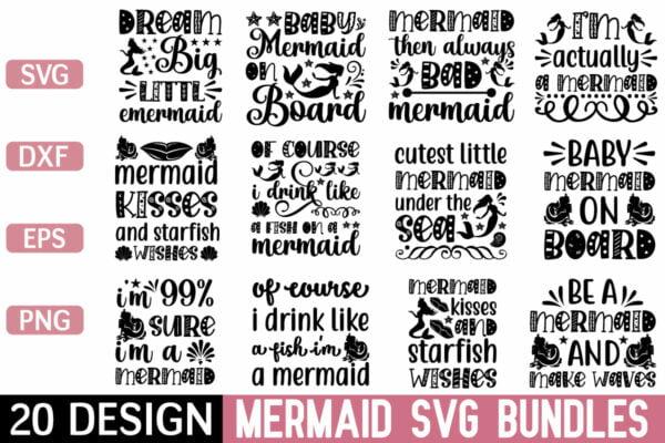 1200 800 Vectorency Mermaid SVG Bundle Vol 2