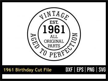 1961 Birthday SVG