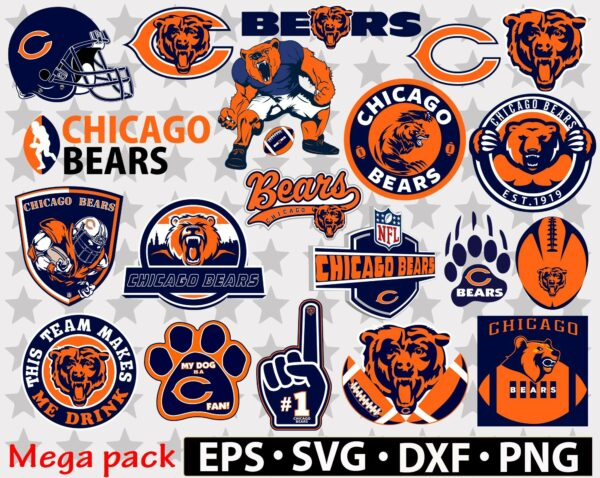 306 new banner etsy Chicago Bears Vectorency Chicago Bears SVG Files For Silhouette, Files For Cricut, SVG, DXF, EPS, PNG Instant Download. Chicago Bears SVG, SVG Files For Silhouette, Files For Cricut, SVG, DXF, EPS, PNG Instant Download