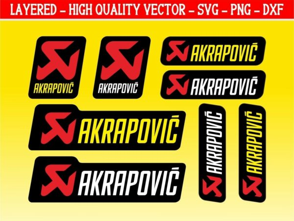 Akrapovic Graphic Set for Cutting Machine SVG PNG EPS Vector