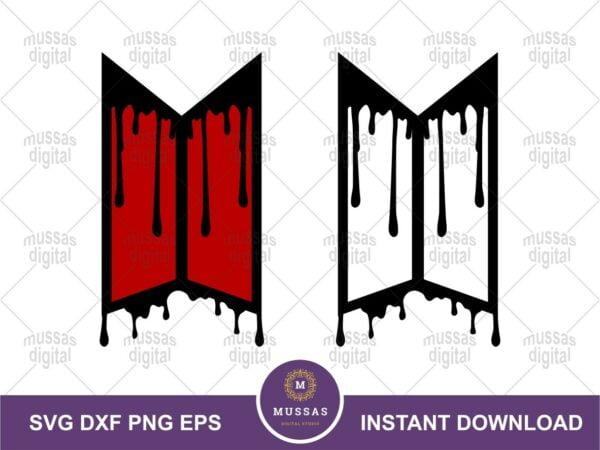 BTS Logo Drip Dripping