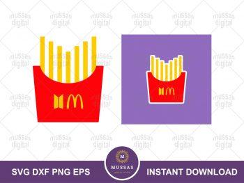 BTS x McDonald's Logo