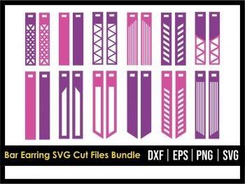 Bar Earring SVG Cut Files Bundle