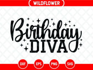 Birthday Diva SVG