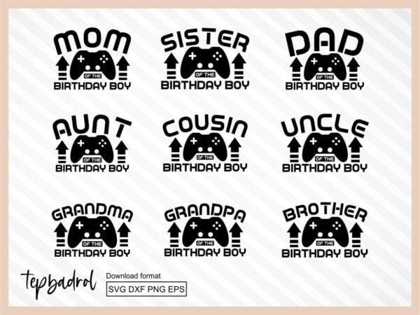 Birthday Family Pack Video Game Level 9 SVG