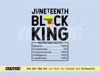 Black Dad Fathers Day Black King SVG Juneteenth SVG