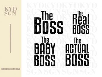 Boss Family SVG Bundle