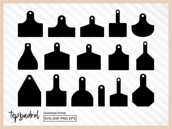 Cow Ear Tags SVG