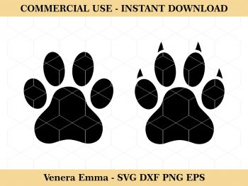 Dog Cat Paw Animal Paw Clipart SVG Cut Files