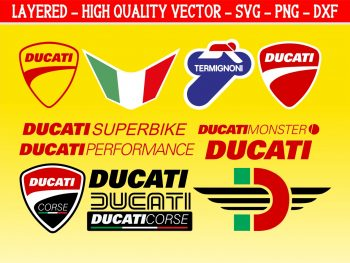 Ducati Decals Stickers Vector SVG Cut Files
