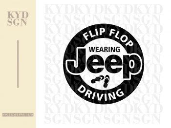 Flip Flop Wearing Jeep Driving