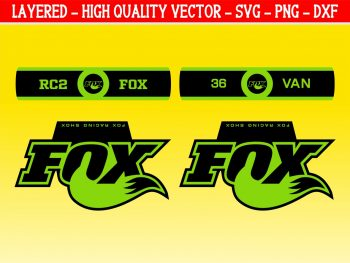 Fox Forks Decal Vector EPS Fox SVG for Cutting Machine Design