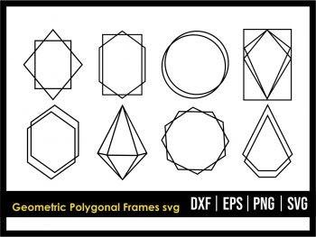 Geometric Polygonal Frames SVG