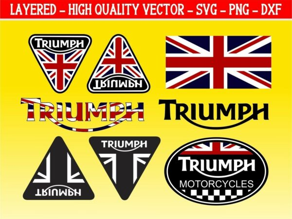 Graphic Set Triumph Decals Stickers Vector SVG PNG