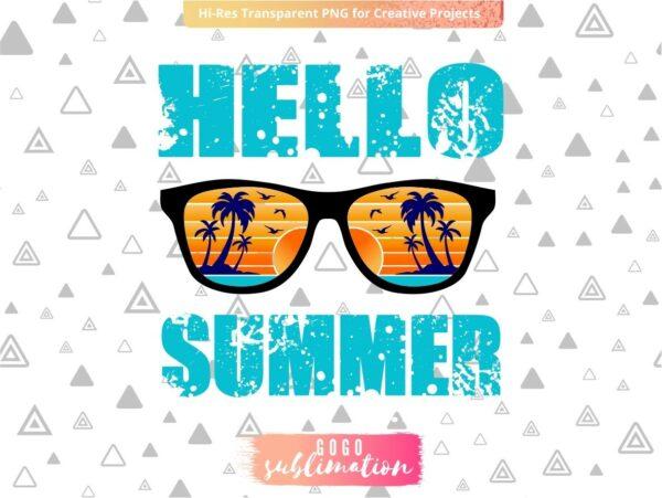 Hello Summer High Heat Screen Print Transfer