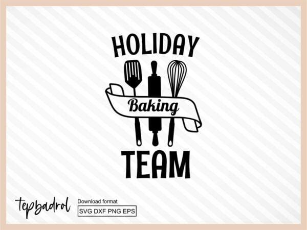 Holiday baking team