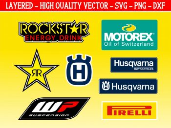 Husqvarna Motocross Decals Ready to Print and Cut Files Cricut Silhouette Cameo