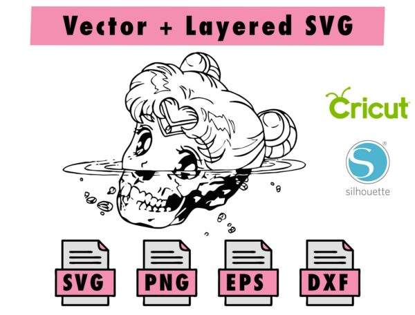 ISNO DEV SVGISMADEV Vectorency Anime Sailor Moon SVG , PNG , EPS , DXF for Cricut and silhouette machine