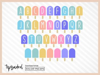 Ice Cream Alphabet SVG