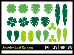 Jewelry Leaf Earring SVG Bundle