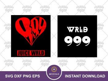 Juice WRLD Symbol SVG Cricut Bundle