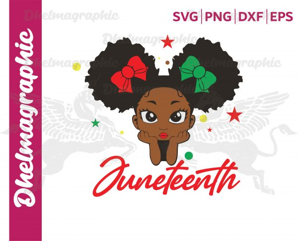 Juneteenth Girl african american Vectorency Juneteenth Girl , African American