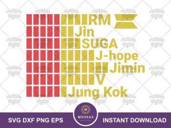 K-pop BTS Meal SVG