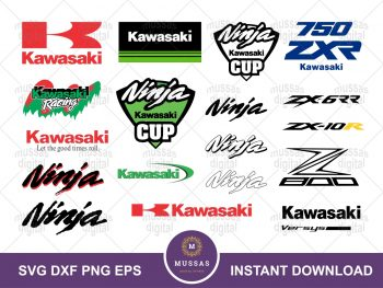 Kawasaki SVG Cut Files Bundle
