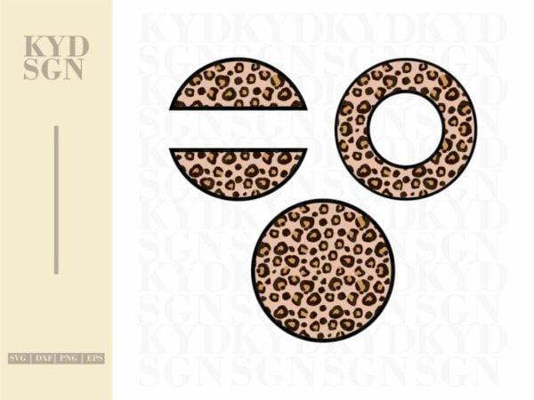 Keychain Pattern Frames Leopard SVG