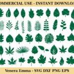 Leaf Paper Leaves SVG Cricut Template