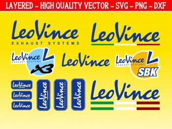 Leo Vince Decals Stickers graphics set cut files svg vector
