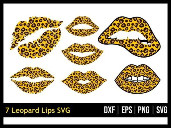 Leopard Lips SVG