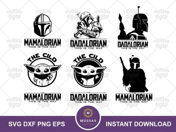 Mandalorian Family SVG Bundle