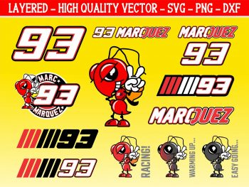 Marquez 93 Graphics Set Vector SVG PNG