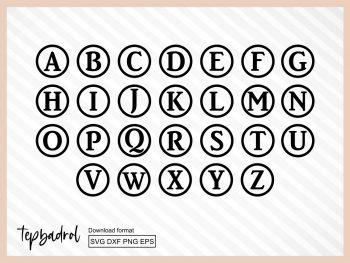Monogram Keychain SVG Alphabet