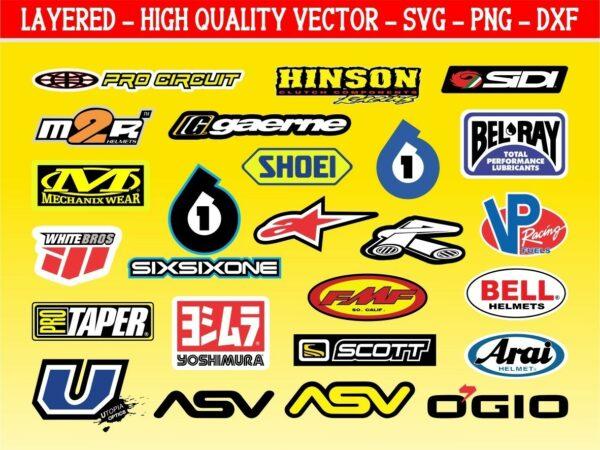 Motocross Sponsor Logo SVG Graphics Set