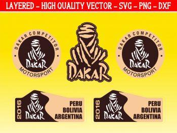 Peru Bolivia Argentina 2016 Dakar Skull Rally SVG PNG