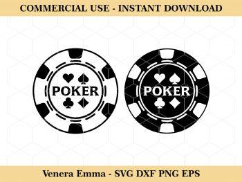 Poker Chip Queen SVG