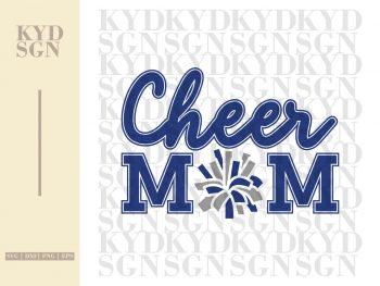 Pom Cheer Mom SVG