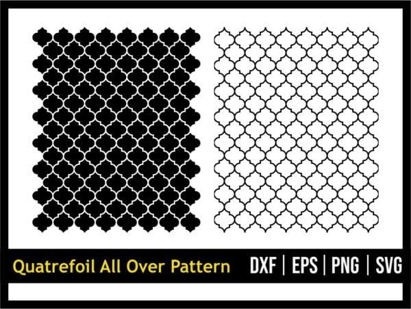 Quatrefoil All Over Pattern SVG