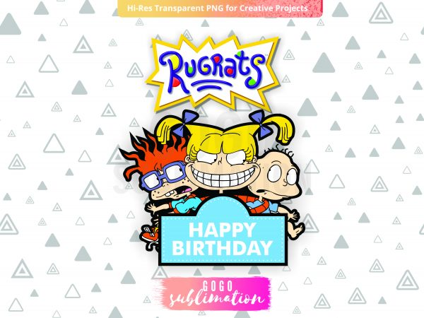 Rugrats Cake Topper Printable Logo Include