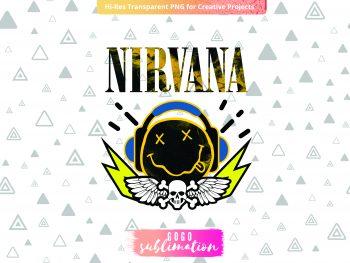 Shirt Nirvana Sublimation Design PNG