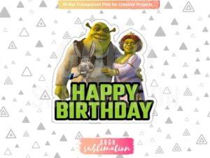 Shrek Birthday Party Cake Topper Printable PNG