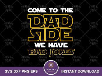 Star Wars Cut File Cricut Silhouette Vector Clipart Design Jedi Father Day SVG